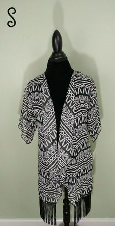 d811461712 NWT LuLaRoe Monroe Kimono Size Small (Black and White) Tribal #fashion  #clothing
