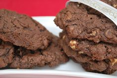 Biscuits triple chocolat