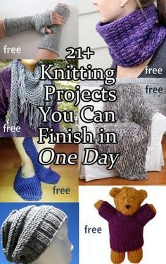Hottest Totally Free knitting projects quick Tips One Day Knitting Projects : Quick Knitting Patterns you can finish in one day, many free patterns. Quick Knitting Projects, Easy Knitting Patterns, Yarn Projects, Knitting For Beginners, Loom Knitting, Knitting Stitches, Free Knitting, Crochet Projects, Crochet Patterns