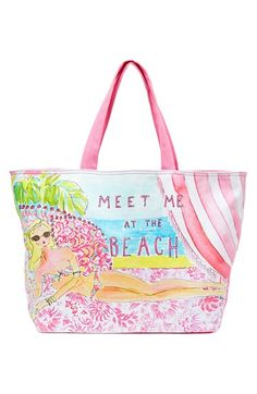 Lilly Pulitzer® Print Canvas Beach Tote available at #Nordstrom