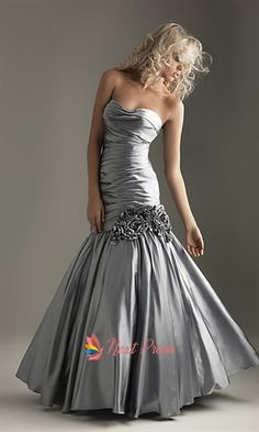 Silver Mermaid Prom Dress, Sweetheart Mermaid Prom Dress