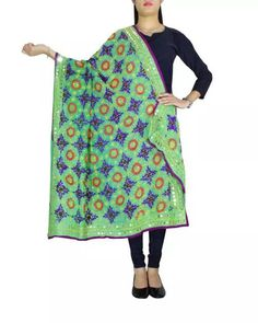 This beautiful phulkari dupatta on faux georgette fabric has been hand embroidered with wool thread and sequins, in the champa work style. A graceful and stunning accessory for your evenings out. Great festive wear and wedding wear as well. Only at Rs 1299 COD, easy returns, International Shipping. Resellers can whatsapp on 9902488133 Shop here https://www.giftpiper.com/product/phulkari-dupatta-on-georgette-fabric-green-27