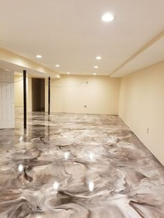 29 Stain Interior Concrete Floors My beautiful Epoxy floor Finished Basement Decor in 2019 Epoxy Floor Diy, Epoxy Concrete Floor, Epoxy Floor Basement, Painting Basement Floors, Metallic Epoxy Floor, Stained Concrete, Basement Plans, Concrete Lamp, Basement Renovations
