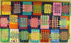 Second Grade: Theres a Dragon in my Art Room: Wild and Wacky Weaving! Classroom Art Projects, School Art Projects, Art Classroom, Paper Weaving, Weaving Art, Fabric Weaving, Kindergarten Art, Preschool Art, Weaving For Kids