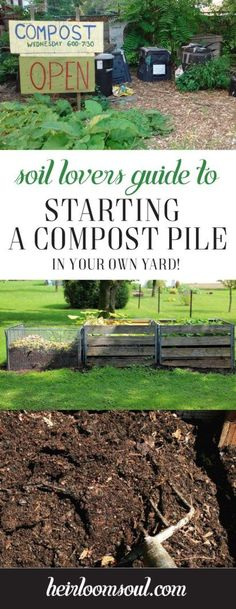 How to Start a Biodiverse Compost Pile in Your Yard - A Step-by-Step guide that incorporates permaculture gardening techniques and Soil Food Web education. Awesome, informative post that includes everything you need to know to start a compost pile from kitchen and garden scraps! | Heirloom Soul | heirloomsoul.com