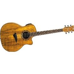 Dean Exotica Acoustic-Electric Guitar, Spaulted Maple