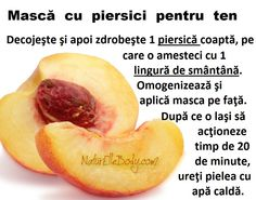 Mască cu piersici pentru ten Beauty Care, Hair Beauty, Up Hairstyles, Metabolism, Skin Care Tips, Healthy Lifestyle, Health Fitness, Peach, Eyes