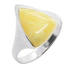 Yellow Rings, Amber, Rings, Triangle Shape, White People, Color, Jewerly, Ivy