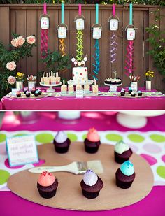 kids paint party ideas | HWTM > Kids Birthday > Parties for Girls > Polka Dot & Rainbow Paint ...