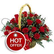 Red roses are a symbol of love and romanticism. Express your heartfelt sentiments to your beloved with this outstanding flower bouquet that inspires, enchants, and enriches. • 20 red roses beautifully arranged in a basket • Lots of green accent to create a visual appeal • Stylish woven basket for that lasting impact http://flowershop18.in/flowers-to-delhi.aspx