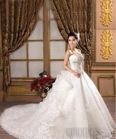 Gorgeous Ball Gown Sweetheart Appliques Beading Chapel Attractive Wedding Dress Wedding Dresses 2014- ericdress.com 10875004
