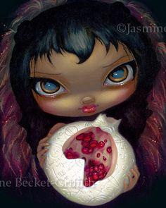 Alchemical Angel 3 gothic fairy fantasy pomegranate by strangeling, $13.99