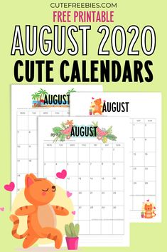 August Calendar, Cute Calendar, School Calendar, Calendar Printable, Calendar Themes, Calendar Design, Monthly Planner, Planner Pages, Baby Shower Printables