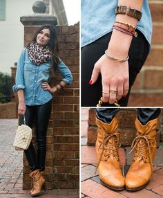20 Style Tips On How To Wear A Chambray Shirt, Denim Tips | Gurl.com