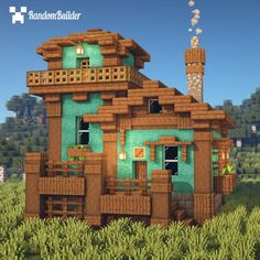 I was playing with 1.16 blocks and made this Fisherman Store! - Minecraftbuilds Minecraft Bauwerke, Construction Minecraft, Minecraft Welten, Minecraft Cottage, Easy Minecraft Houses, Minecraft House Tutorials, Minecraft House Designs, Minecraft Survival, Minecraft Decorations