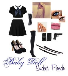 """Baby Doll~Sucker Punch"" by daisyrose216summers ❤ liked on Polyvore featuring DKNY, Hue, Pieces, prAna, Urban Decay and AGNELLE"