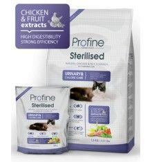 Fórmula natural de pollo y arroz especial para gatos esterilizados. El control de pH garantiza la saludable función renal y la orina proteína de 35% - 12% de grasa.