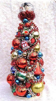 Large Bottle Brush Christmas Tree Purchase any of my vintage creations at - Etsy - store name: laughterandlemondrop Ebay - store name: lemondrops2011