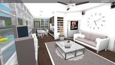 Home Building Design, Home Design Plans, Building A House, Modern Family House, Modern House Design, The Sims, Cute Living Room, House Layouts, Tiny House Layout