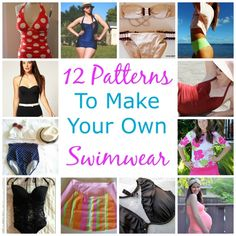 12 Patterns To Make Your Own Swimwear http://sewing.craftgossip.com/12-patterns-to-make-your-own-swimwear/2015/05/26/