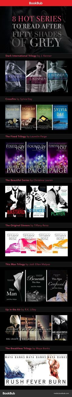Hot books for Fifty Shades of Grey fans. These books are worth reading if you can't get enough Christian Grey!