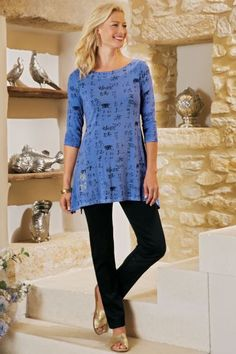 Misses - Soft Surroundings offers stylish, luxurious & comfortable women's clothes for every size. Find beautiful shoes and jewelry to match. Feel your best in the softest fabrics from Soft Surroundings. Soft Surroundings, Late Summer, Beautiful Shoes, Cute Tops, Soft Fabrics, Black Pants, Autumn Fashion, Tunic Tops, The Incredibles