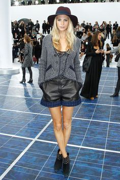 Chanel Front Row - Poppy Delevingne in Chanel