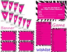 The hottest pink and zebra baby shower prints are waiting for you here! This…