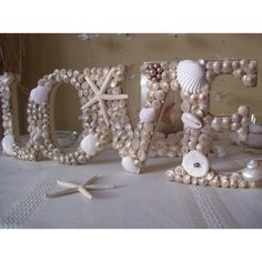 seashell decor | Pinned via Pinterest Mobile App