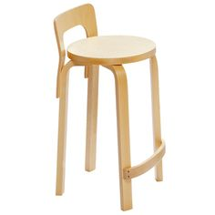 Aalto K65 high chair, birch