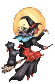 Halloween Gif, Halloween Images, Halloween Witches, Gifs, Bowser, Presents, Animals, Fictional Characters, Salem Witch Trials