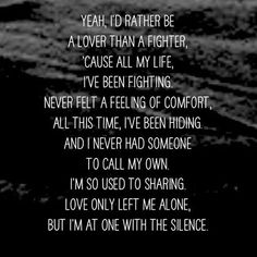 Image result for silence marshmello lyrics id rather be a lover than a fighter