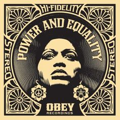 Afrocentric Power and Equality by Shepard Fairey. Limited Edition Print from Hang-Up Gallery, Europe's leading gallery for Contemporary and Street art. Graphic Design Print, Graphic Art, Logo Design, Shepard Fairey Art, Obey Art, Art Nouveau, Album Cover Design, Kunst Poster, Science Art
