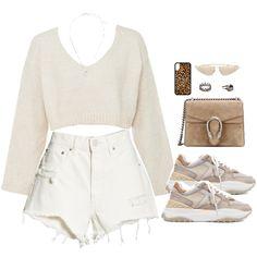 Fashion set scheme - created via - Summer dresses Komplette Outfits, Teen Fashion Outfits, Korean Outfits, Cute Casual Outfits, Polyvore Outfits, Teenage Outfits, Look Fashion, Stylish Outfits, Korean Fashion