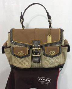 Coach Wicker, Leather & Canvas Handbag Bag - Satchel $149