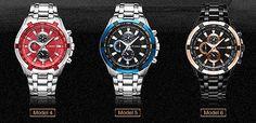 Men's water resistant sports wrist watch free shipping
