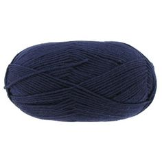"""Everyone will love the rich, deep colors, softness and drape of sweaters, afghans, and accessories made with Dark Navy I Love This Wool Yarnfrom Yarn Bee.         Contents: 93% Wool & 7% Polyamide         Yarn Weight: 4 - Medium         Recommended Knitting Needles: 5.5mm (USA Size: 9 - UK Size: 5)         Knit Gauge: 16 stitches x 21 rows = 4""""         Recommended Crochet Hook: 4mm (USA Size: G-6 - UK ..."""