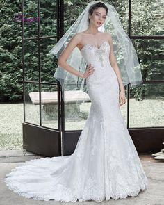 Dreagel New Arrival Luxury Beaded Strapless Lace Mermaid Wedding Dress 2017 Hot Sale Off the Shoulder Bride Gown Robe De Mariage