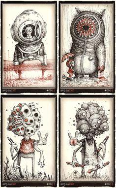 drawings dark behance easy creepy drawing scary