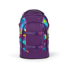 Mit dem Satch Pack Sunny Beats (lila, gelb, türkis) bist du auf der Sonnenseite! Sunnies, Under Armour, Backpacks, Pets, Products, Material, Fashion, Lilac, Duffle Bags