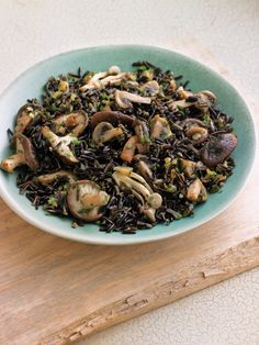 Wild Rice & Mushroom Pilaf - Can easily be Vegan if you USE A VEGAN SUBSTITUTE FOR THE BUTTER.