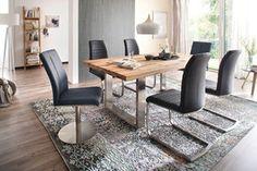 Stół CASTILO lity dąb Dining Bench, Loft, Furniture, Home Decor, Decoration Home, Table Bench, Room Decor, Lofts, Home Furnishings