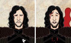 Les personnages de Game of Thrones Avant/Après : Jon Snow