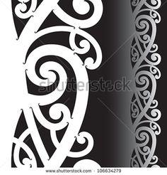 Illustration about Maori styled tattoo pattern. Illustration of sign, maori, spiral - 25560095 Maori Tattoo Patterns, Maori Patterns, Mug Rug Patterns, Celtic Patterns, Pattern Tattoos, Design Patterns, Maori Designs, Body Art Tattoos, Tribal Tattoos