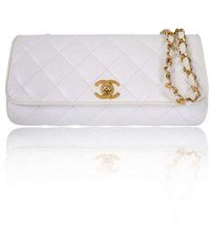 Chanel White Caviar Skin Cross Body Flap Rare Vintage Shoulder Bag $2,569