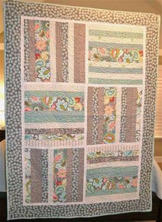"Finished Size: 52"" x 74"". This free pattern is brought to you by Emily Taylor Design. Find the free quilt pattern here Strip Your Stash Liberate your stash"