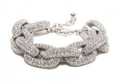 Original Pave Links Bracelet in Silver | Statement Necklaces