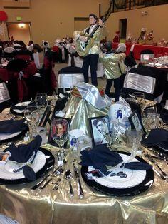 Elvis Table - lots of gold & black!