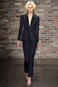 ANMARI look in this inky suit at SACHIN + BABI S/S 2013