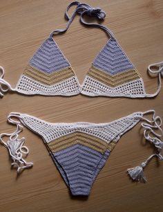 Batik crochet bikini  women bikini  swimwear  beach wear  2015 Summer Trends !!! FORMALHOUSE di formalhouse su Etsy https://www.etsy.com/it/listing/222689806/batik-crochet-bikini-women-bikini